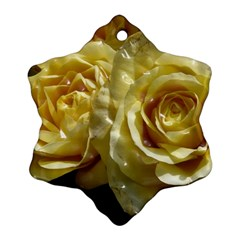 Yellow Roses Ornament (snowflake)