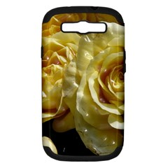 Yellow Roses Samsung Galaxy S Iii Hardshell Case (pc+silicone) by MoreColorsinLife