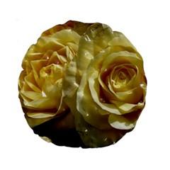 Yellow Roses Standard 15  Premium Round Cushions
