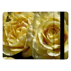Yellow Roses Samsung Galaxy Tab Pro 12 2  Flip Case by MoreColorsinLife