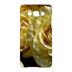 Yellow Roses Samsung Galaxy A5 Hardshell Case  by MoreColorsinLife
