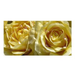 Yellow Roses Satin Shawl