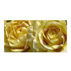 Yellow Roses Satin Wrap