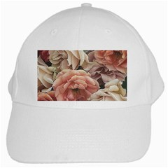 Great Garden Roses, Vintage Look  White Cap by MoreColorsinLife