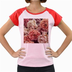Great Garden Roses, Vintage Look  Women s Cap Sleeve T Shirt