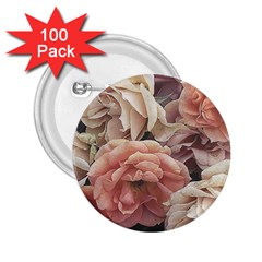 Great Garden Roses, Vintage Look  2 25  Buttons (100 Pack)