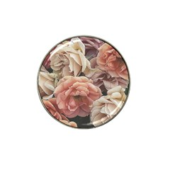 Great Garden Roses, Vintage Look  Hat Clip Ball Marker