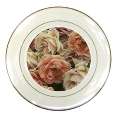 Great Garden Roses, Vintage Look  Porcelain Plates