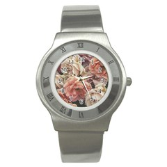 Great Garden Roses, Vintage Look  Stainless Steel Watches