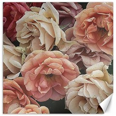 Great Garden Roses, Vintage Look  Canvas 20  X 20