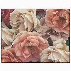 Great Garden Roses, Vintage Look  Canvas 11  x 14   by MoreColorsinLife