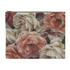 Great Garden Roses, Vintage Look  Cosmetic Bag (xl)