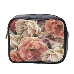 Great Garden Roses, Vintage Look  Mini Toiletries Bag 2 Side