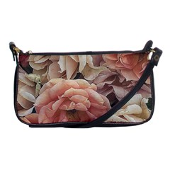 Great Garden Roses, Vintage Look  Shoulder Clutch Bags