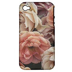 Great Garden Roses, Vintage Look  Apple Iphone 4/4s Hardshell Case (pc+silicone)