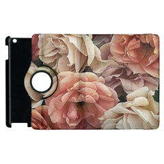 Great Garden Roses, Vintage Look  Apple Ipad 2 Flip 360 Case by MoreColorsinLife