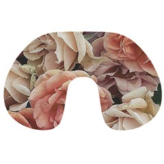 Great Garden Roses, Vintage Look  Travel Neck Pillows by MoreColorsinLife
