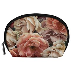 Great Garden Roses, Vintage Look  Accessory Pouches (large)  by MoreColorsinLife