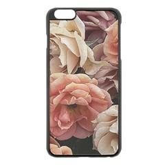 Great Garden Roses, Vintage Look  Apple Iphone 6 Plus Black Enamel Case by MoreColorsinLife