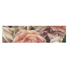 Great Garden Roses, Vintage Look  Satin Scarf (oblong)