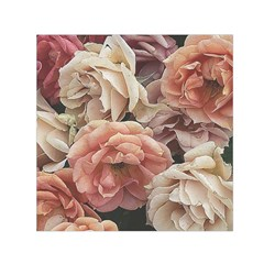 Great Garden Roses, Vintage Look  Small Satin Scarf (square)