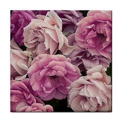 Great Garden Roses Pink Tile Coasters