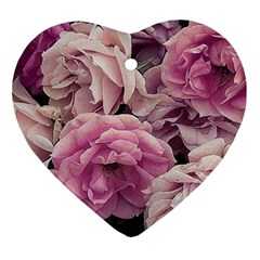 Great Garden Roses Pink Ornament (heart)