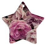 Great Garden Roses Pink Ornament (Star)