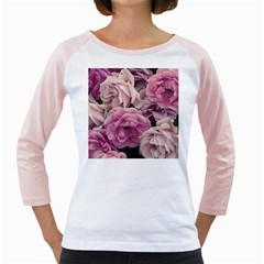 Great Garden Roses Pink Girly Raglans
