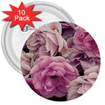 Great Garden Roses Pink 3  Buttons (10 pack)