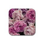 Great Garden Roses Pink Rubber Coaster (Square)