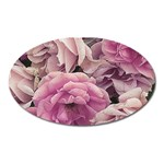 Great Garden Roses Pink Oval Magnet