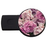 Great Garden Roses Pink USB Flash Drive Round (2 GB)
