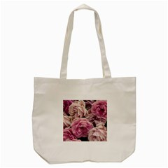 Great Garden Roses Pink Tote Bag (cream)