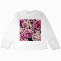 Great Garden Roses Pink Kids Long Sleeve T Shirts