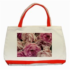 Great Garden Roses Pink Classic Tote Bag (red)