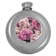 Great Garden Roses Pink Round Hip Flask (5 Oz)