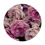 Great Garden Roses Pink Round Ornament (Two Sides)