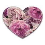 Great Garden Roses Pink Heart Mousepads