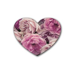 Great Garden Roses Pink Heart Coaster (4 Pack)