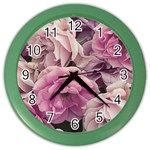 Great Garden Roses Pink Color Wall Clocks
