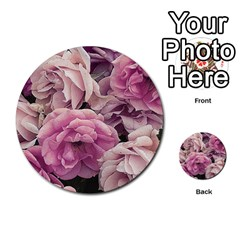 Great Garden Roses Pink Multi Purpose Cards (round)