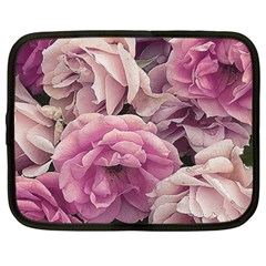 Great Garden Roses Pink Netbook Case (large)