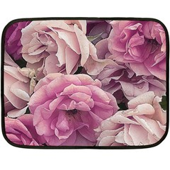 Great Garden Roses Pink Double Sided Fleece Blanket (mini)
