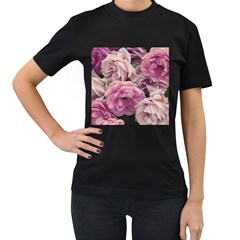 Great Garden Roses Pink Women s T Shirt (black)