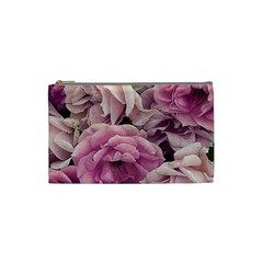 Great Garden Roses Pink Cosmetic Bag (small)
