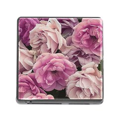 Great Garden Roses Pink Memory Card Reader (square)