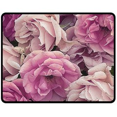 Great Garden Roses Pink Fleece Blanket (medium)