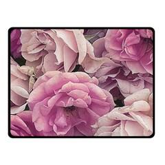 Great Garden Roses Pink Fleece Blanket (small) by MoreColorsinLife