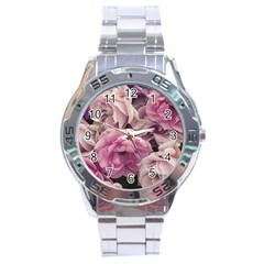 Great Garden Roses Pink Stainless Steel Men s Watch